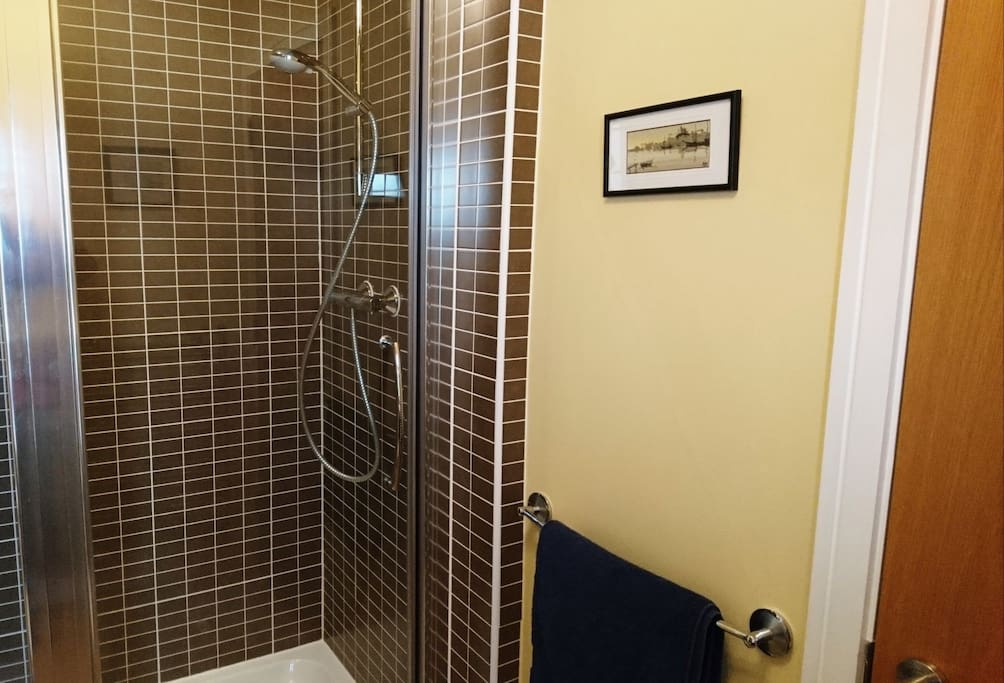 Private ensuite shower-room with 1.5-sized shower basin