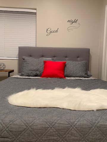 Comfortable bed with memory foam