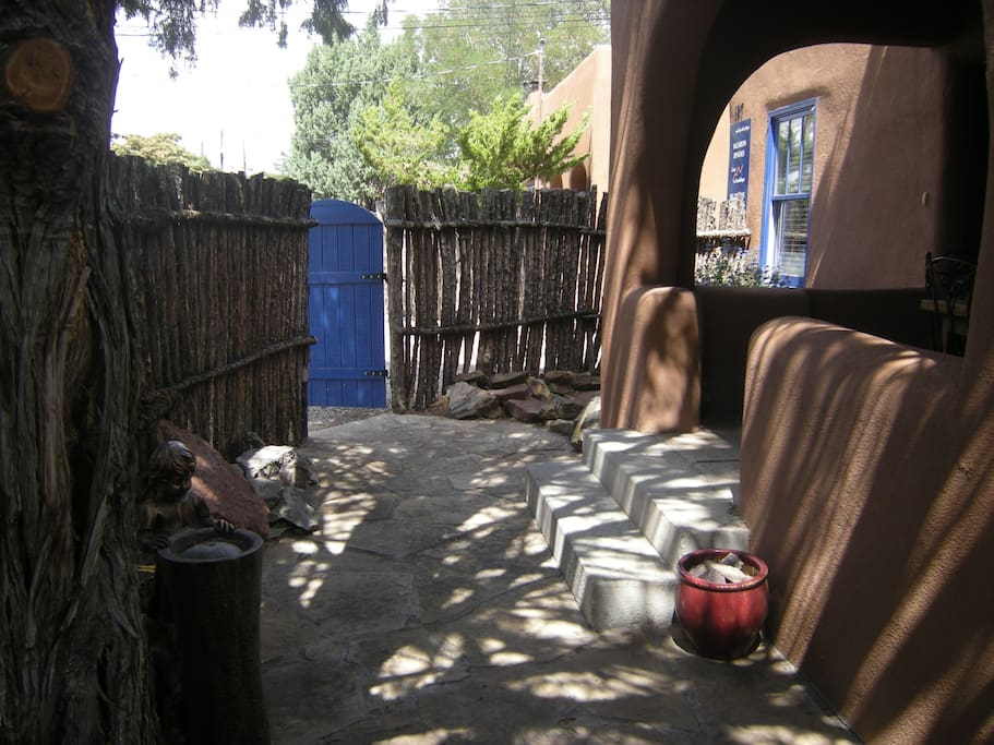 Private patio enclosed with a Coyote Fence
