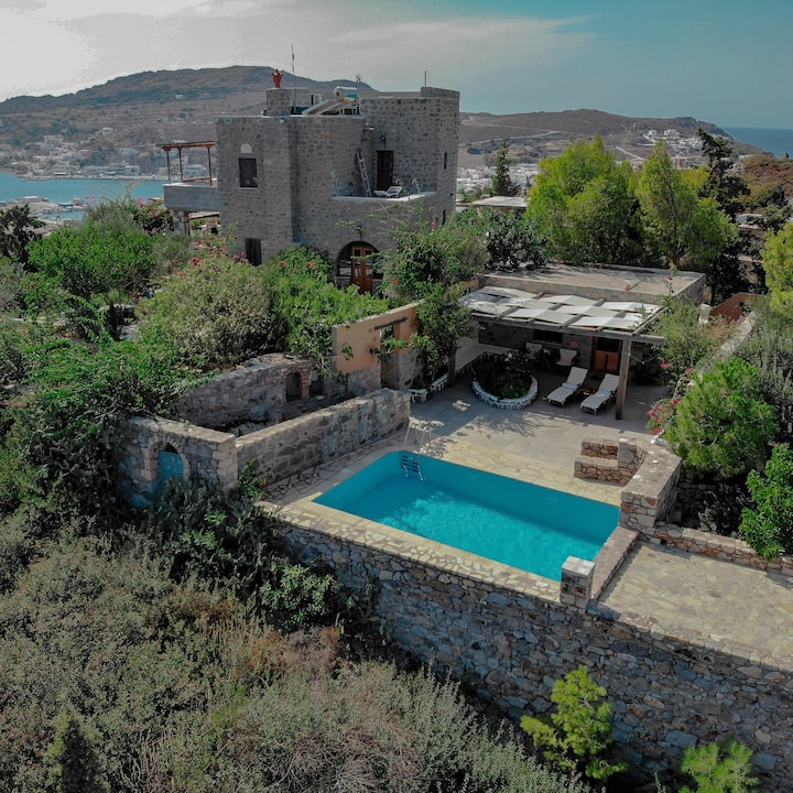 Blue Vista Patmos Villa Margarita capacity 7people
