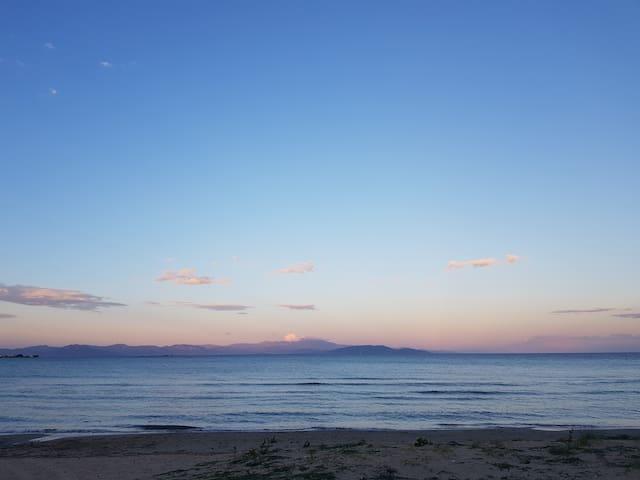 On the beach...!