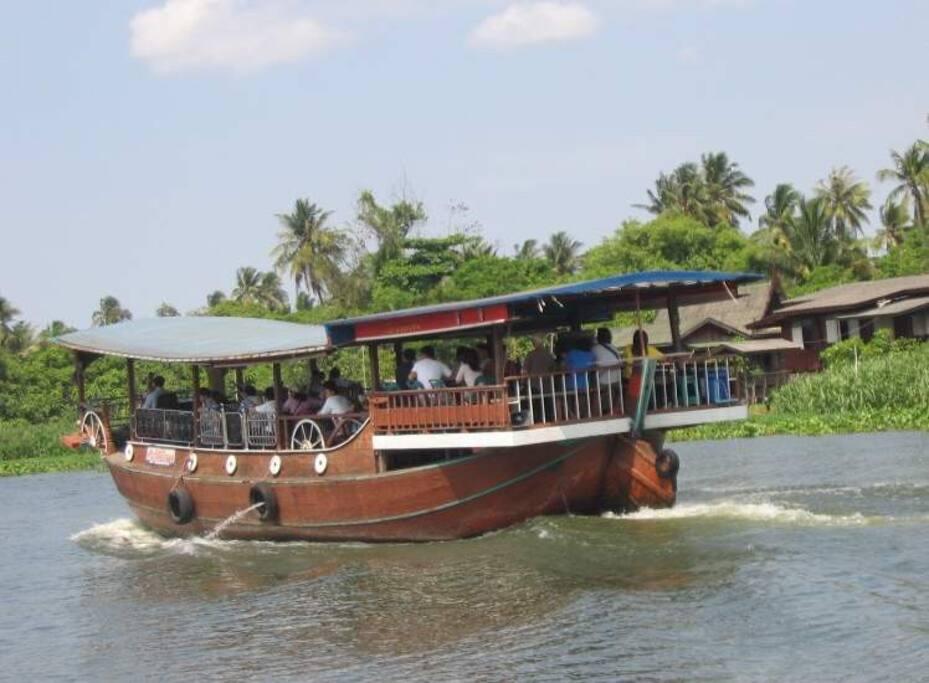 ล่องเรือแม่น้ำท่าจีน วัดดอนหวาย