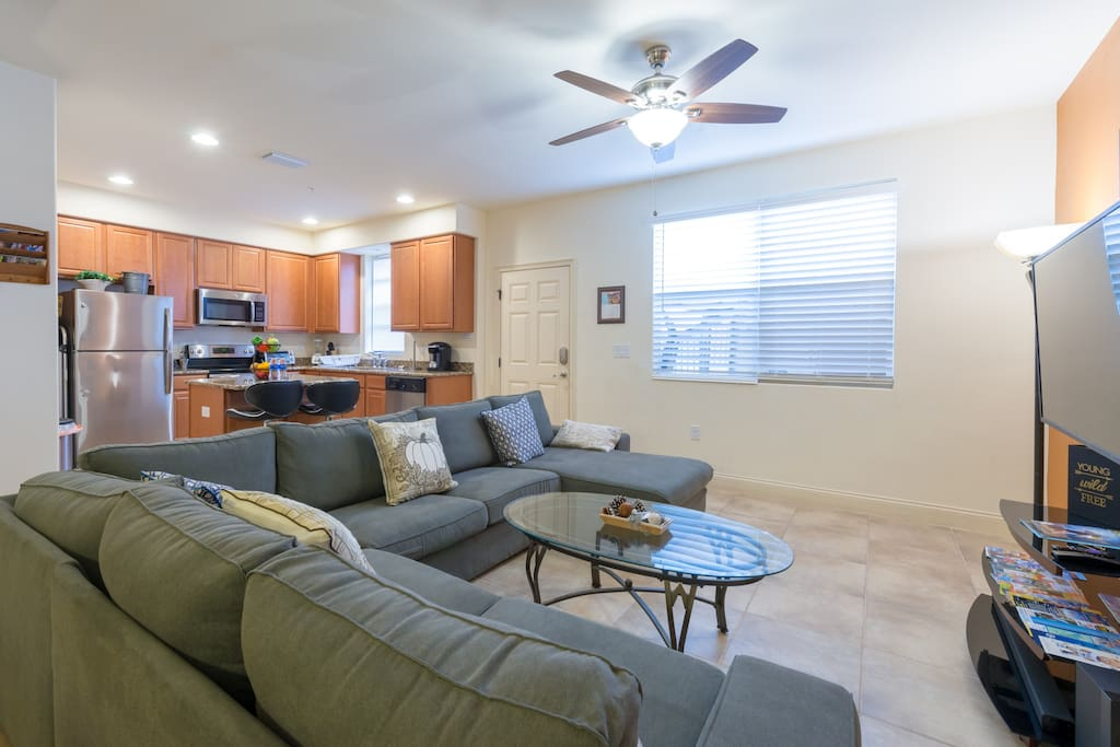 Living room with  sectional sofas