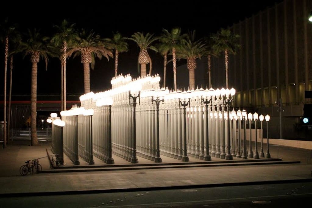 the famous 'Lights' at LACMA...