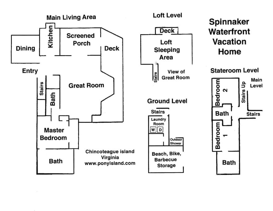 Floor plan Spinnaker Waterfront