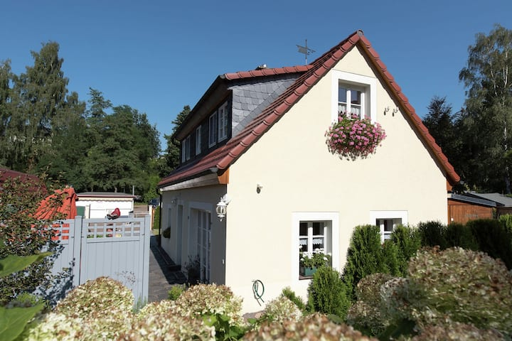 Historical and comfortable holiday home in Saxony with stove and terrace