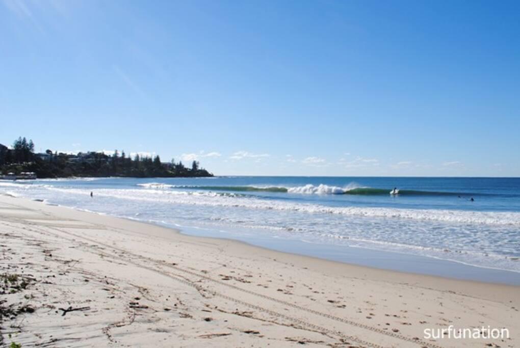 Kings Beach is a family friendly open surf beach