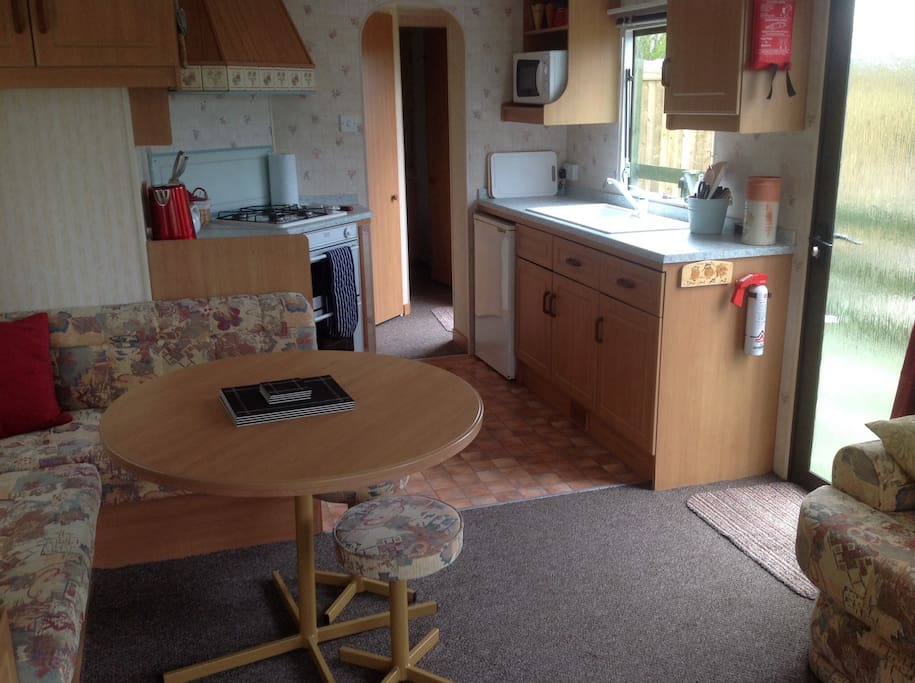 Comfortable dining area and open plan kitchen