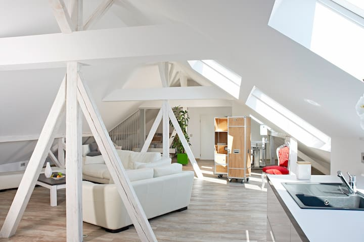 Bright loft - in the Schwabenland