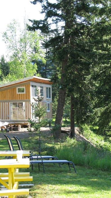 Cabin from yard