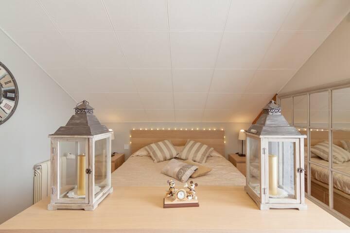 Habitación doble cama grande, con balcón, Cuchia