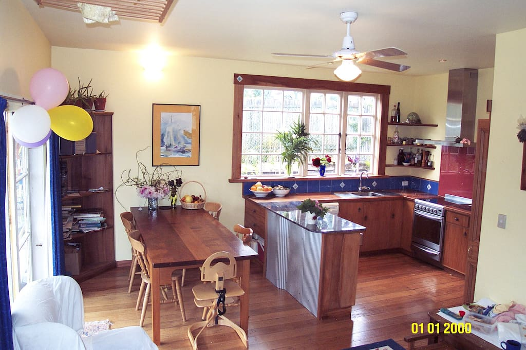 Light and airy kitchen/dining room.