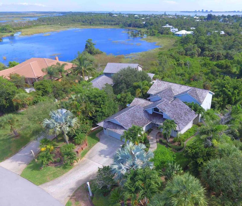 Lots of privacy on both sides of home. With fantastic view all the way to ocean