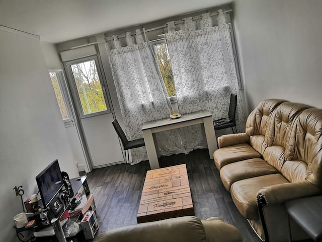 2 rooms, 1 living room -Quiet place near the marne