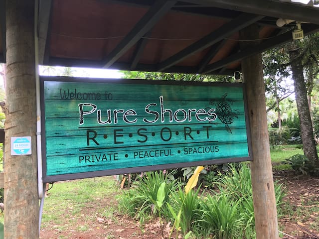 Private, peaceful & spacious. Pure Shores Resort.