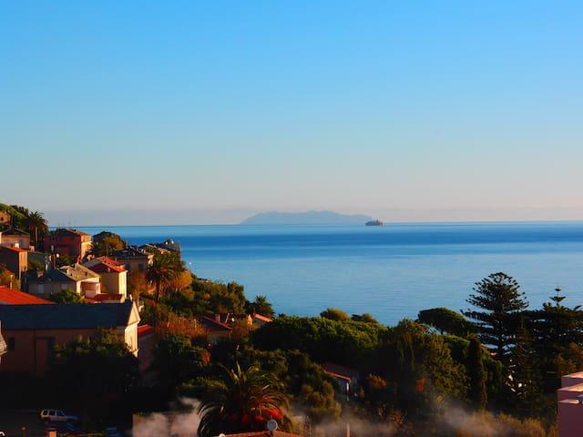 Vue superbe sur la mer à Pietranera et le confort. - San-Martino-di-Lota - Daire