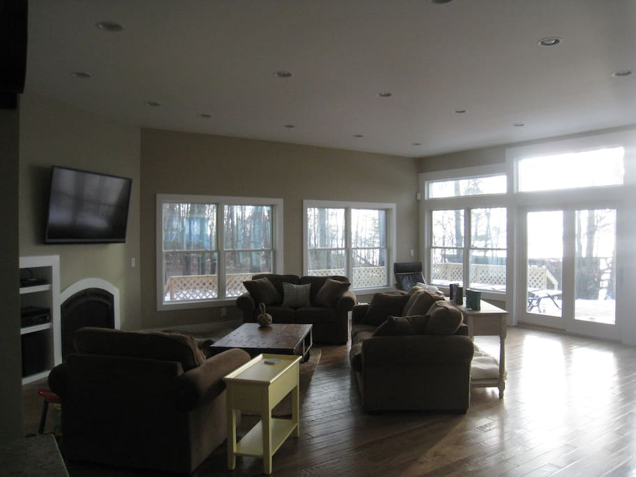 Open Living room with views