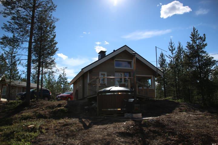 Log cabin by the Lake Inari