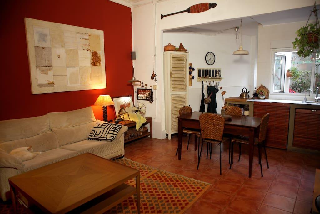 El salón. The livingroom.