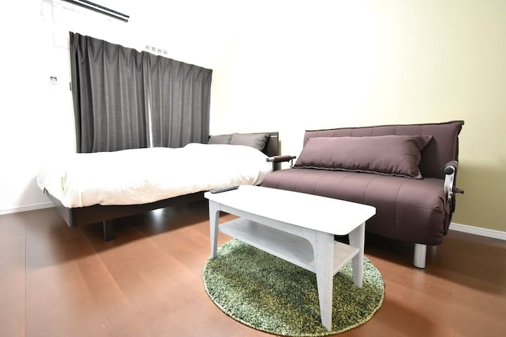 【Permitted】Double B-room nr Tomari port. Free WiFi