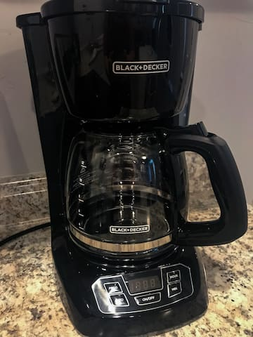 Coffee maker can make up to 12 cups
