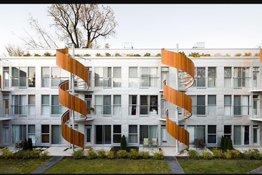 Projet d'architecture unique de Montréal
