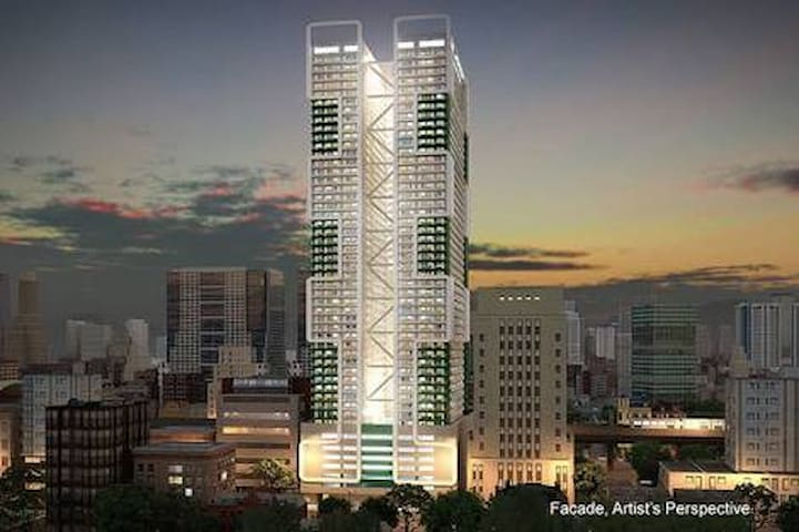 It's at SMDC Green Residences right beside DLSU on Taft Ave. Guests can readily enjoy the convenient access to the different parts of the metro, and an easy commute because of its major part of the MRT-LRT loop and high frequency PUVs right outside.