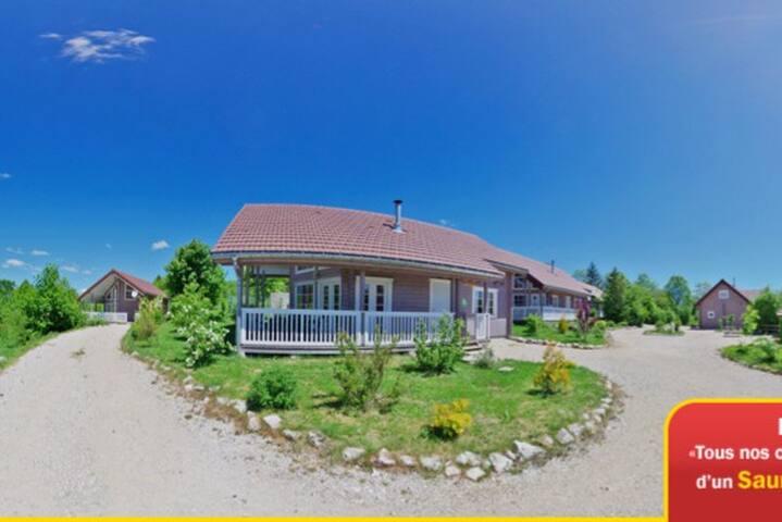 Maison en bois avec sauna Haut Jura