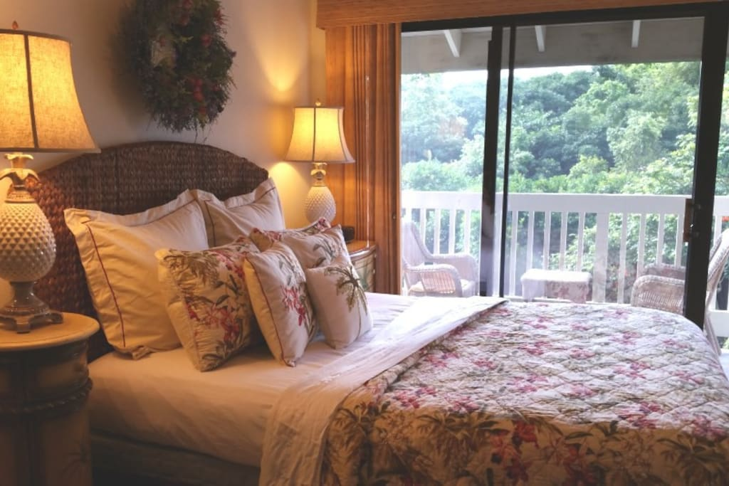 Wake up to beautiful mountain and distant waterfall views!