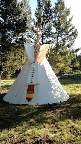 Sage Mountain Center Authentic Tipi