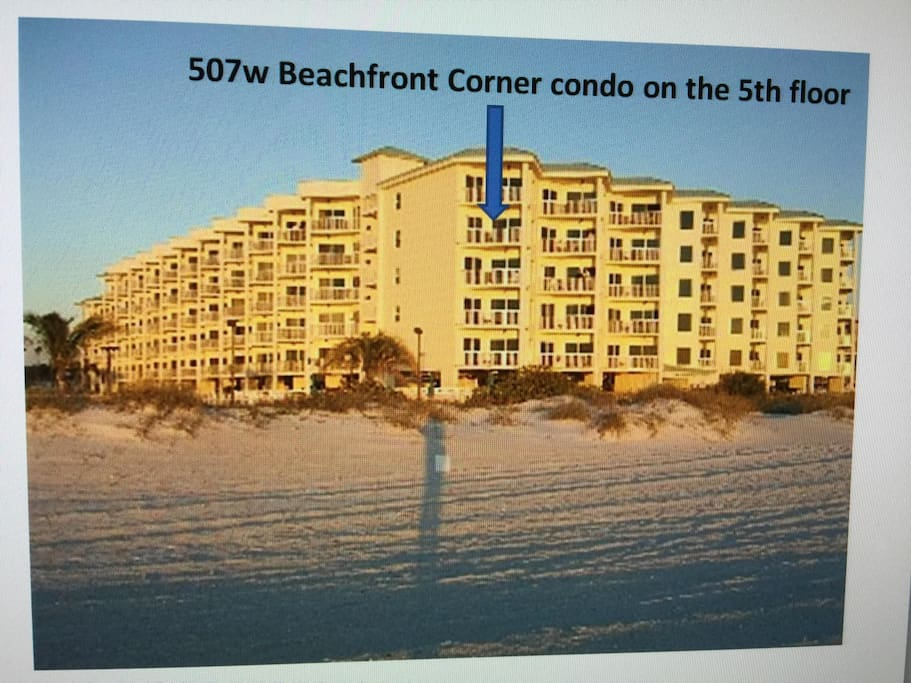 Location of your condo at Sunset Vistas beachfront resort