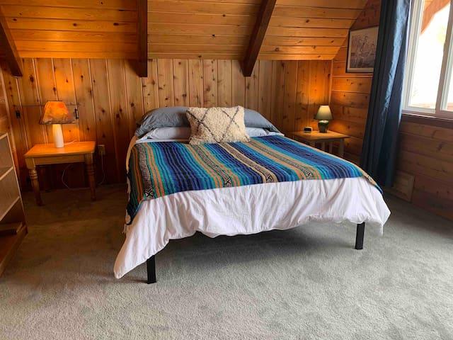 Main bedroom upstairs, queen bed