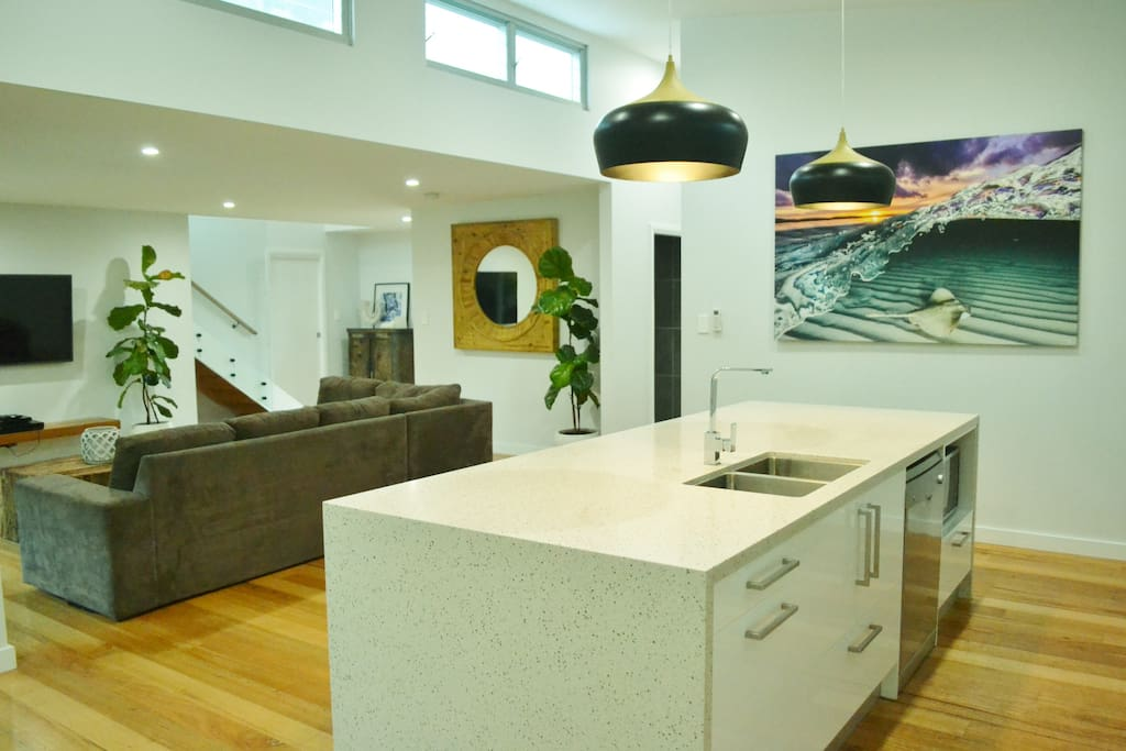 Kitchen and lounge room
