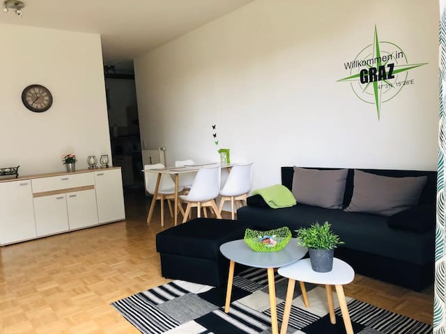 Central apartment next to the Messe Graz
