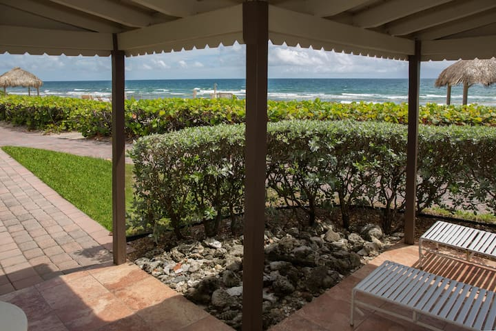 Oceanfront two bedroom villa in Hillsboro Beach.