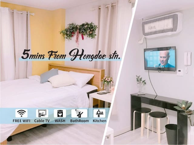 Jolly's Simple Guest room #5min. from Hongdae Stn