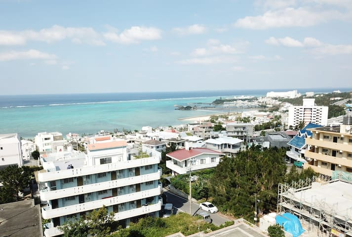 Onna(恩納村)最大13名☆整棟民宿(150㎡)Amazing SeaView Penthouse