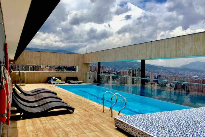 🌟Luxury Apartment 🌟 el poblado 🌟view of the city