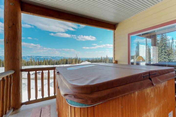 Roomy condo w/ private hot tub & ski-in/out access - convenient location.