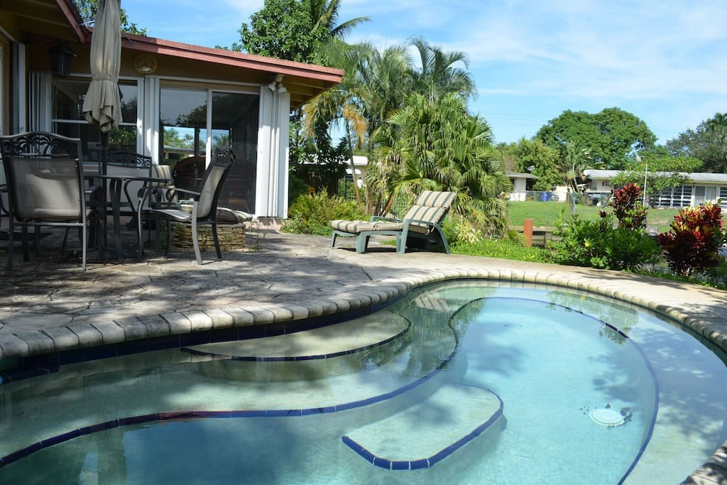 Pool can be heated if desired