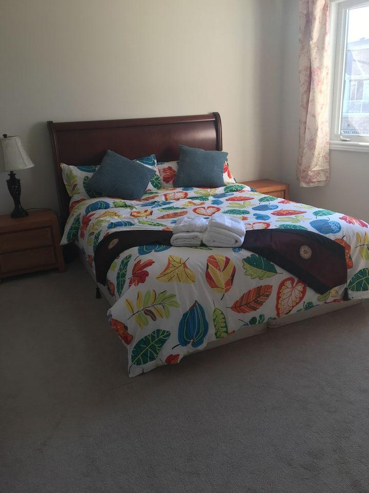 Nice bedroom(2) with cozy Queen bed in new house