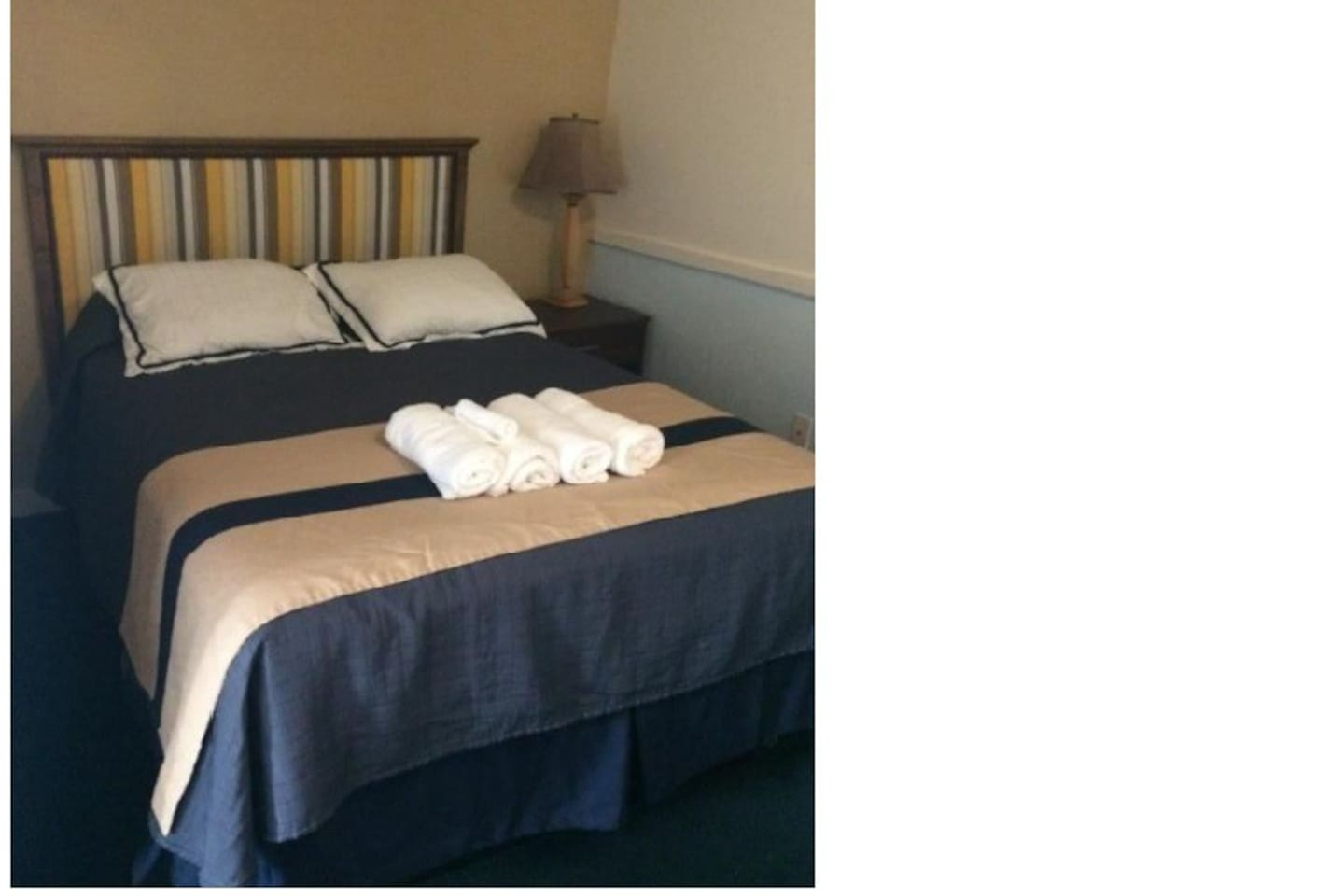Single Double Bed able to comfortably sleep two (2) Persons
