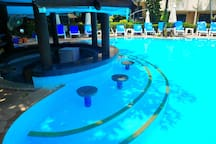 Pool bar and chair