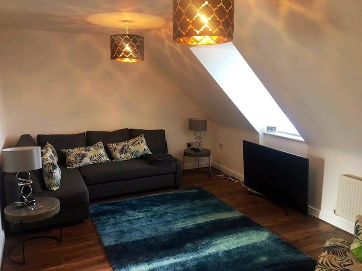 Stylishly furnished Shrewsbury town apartment.