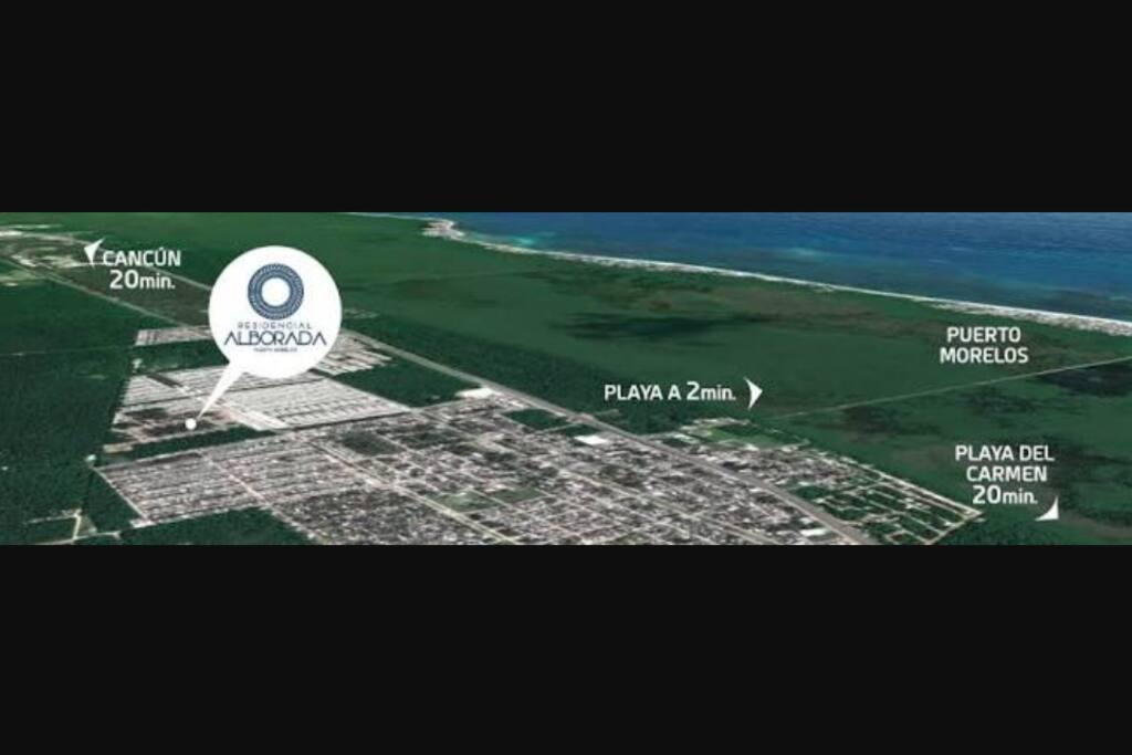 Cerca de Cancun y Playa del Carmen