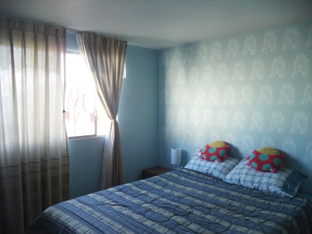 Nice bedroom for 2 people in Santiago downtown