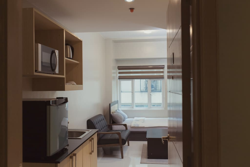 The studio type unit is perfect for guests who want to occupy for short-term or long-term stay.