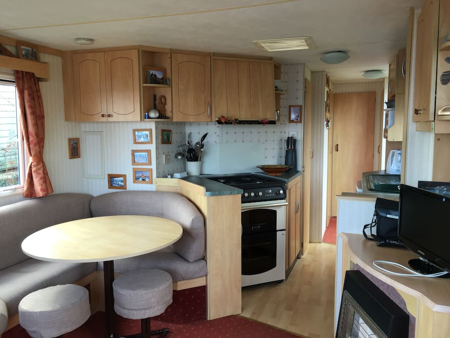 Galley Kitchen with appliances