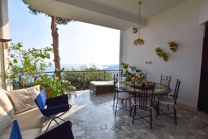 The owners' Panoramic Terrace where breakfast will be served every morning