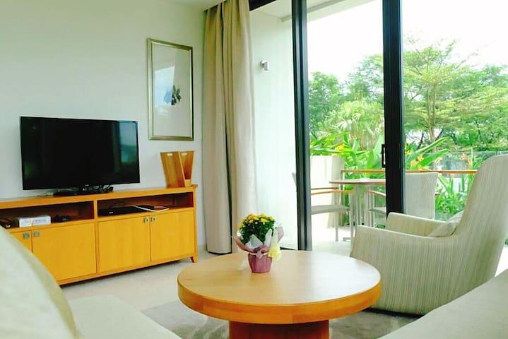 Hyatt Garden & Ocean View 3BR Apartment ResidenceD